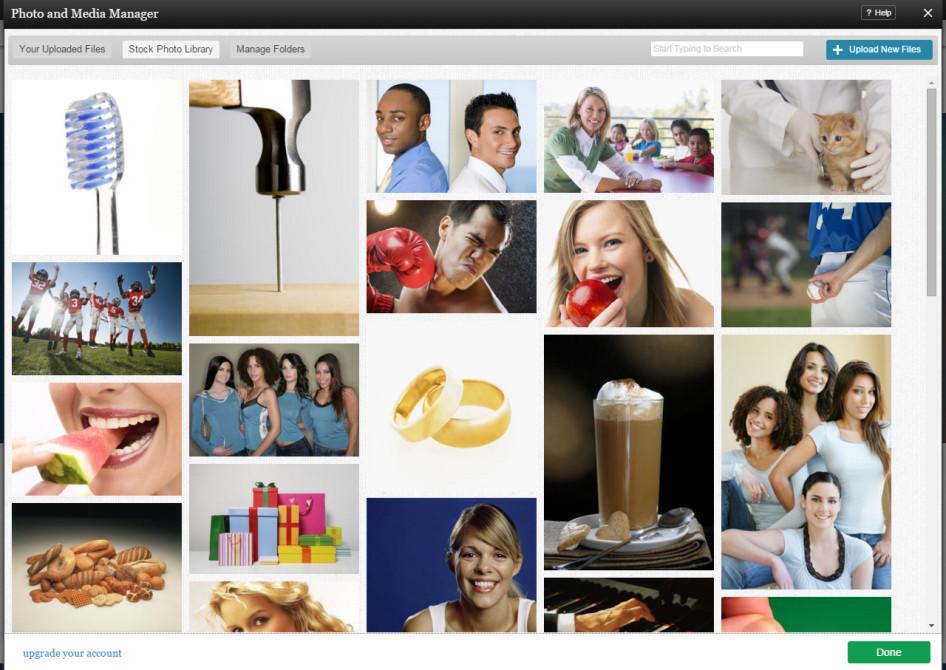 Alternativa a Wix - Banco de imágenes