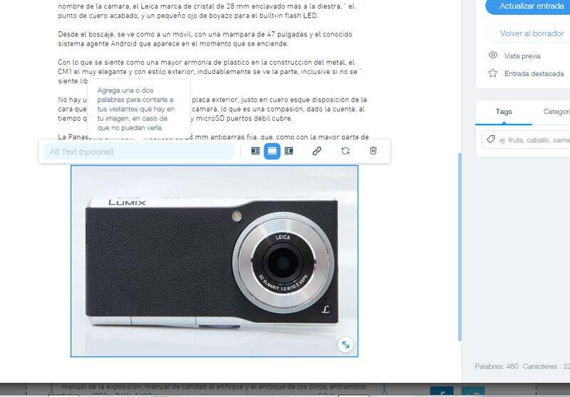 Etiqueta ALT en las Imágenes - Posicionamiento Wix
