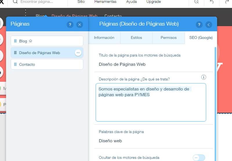 Meta Descripci N Posicionamiento En Buscadores Wix | Posicionamiento Wix Pro: ¡la Mega Guía!